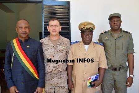 le Maire Eli Diarra-commandant-Gonzales -EUTM-prefet-adjoint-commandant-CIBSS
