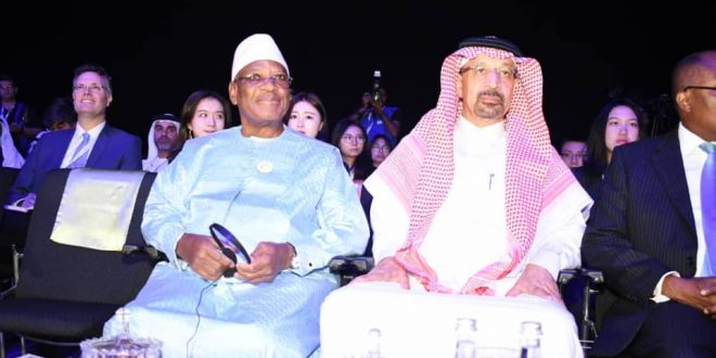 """Le président IBK au panel de la semaine de développement durable à Abu Dhabi week 2019 sur le thème """"the future summit"""" """"La destination du Mali est une destination à courir et elle vaut la chance…"""""""